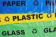 Arrow Background Of Plastic Bags For Recyclable Garbage stock image