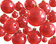 Background Of Red Christmas Shiny Balls