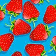 Background Seamless Pattern With Strawberries
