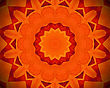 Background With Abstract Orange Concentric Pattern stock photo
