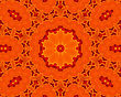 Background With Abstract Orange Concentric Pattern stock photography