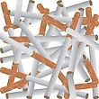 Background With Cigarettes stock illustration