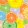 Background With Citric Slices
