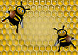 Background With Honey And Bees
