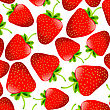 Background With Strawberries stock illustration