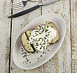 Sourcream Baked Potato With Sour Cream stock photography