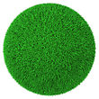 Training Ball Made Of Green Grass stock image