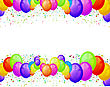 Balloons Party Happy Birthday Decoration Multicolored Translucent stock illustration