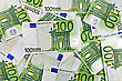 Banknotes Of Euro Currency. One Hundred Euros Background stock photography