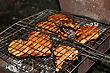 Barbecue On Lattice stock photography