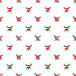 Barbeque Icon Seamless Pattern On White. Summer Grill Background