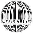 Barcode Vector In The Form Of The Globe