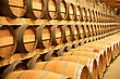 Barrels In A Cellar stock photo