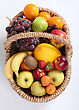 Sphere Basket Of Fruit stock photography