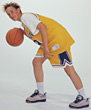 Basketball Dribbling stock photography