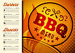 BBQ Brochure Menu Design. Vector Template Illustration stock vector