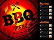 Beef BBQ Brochure Menu Design. Vector Template Illustration stock vector