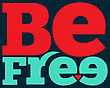 """Be Free"""" Quote Typographical Retro Background, Vector Format"""