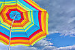 Recreational Beach Umbrella Against The Sky stock image