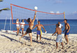 Beach Volleyball Game stock image