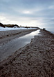 Beach with Low-Tide in the Winter stock image