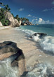 Beaches with Beautiful Waves, Seychelles stock image