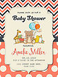 Beautiful Baby Girl Shower Card With Toys, Vector Format