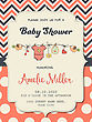 Beautiful Baby Girl Shower Card, Vector Format