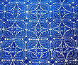 Tapestry Beautiful Dark Blue Background Textile stock image