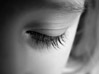 Beautiful Eyelashes stock photography