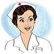 Beautiful Friendly And Confident Nurse Smiling , Vector Illustration stock illustration