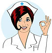 Hospital Beautiful Friendly And Confident Nurse , Vector Illustration stock vector