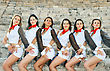 Beautiful Modern Dancers On The Ancient Stairs Of Kurion Amphitheatre In Cyprus