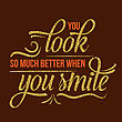 Beautiful Quote With Golden Glittering Details, Vector Format