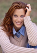 Beautiful Red Haired Woman with Great Smile stock image