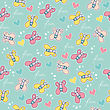 Beautiful Seamless Pattern With Doodle Butterflies
