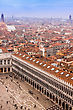 Bridges Beautiful Venice From The Air. Cityscape Panorama stock photo