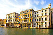 Beautiful Water Street - Grand Canal In Venice, Italy stock image