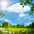 Beauty Natural Landscape Under Blue Skies And Bright Sun stock photography