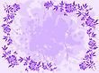 Bedraggled Lilac Background With A Floral Frame Around The Edges