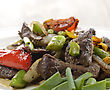 Vegetables Beef Meat With Vegetables,Close Up stock photo