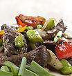 Beef Meat With Vegetables,Close Up stock image
