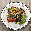 Beef Meat With Vegetables,Top View