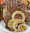 Beef Steak With Vegetables And Fries