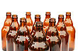 Lager Beer Bottles stock photo