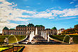 Belvedere Palace In Vienna, Austria On A Sunny Day stock photo