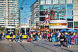 BERLIN - OCTOBER 3, 2014: Alexanderplatz On A Sunny Day On October 3, 2014 In Berlin, Germany. It's A Large Public Square And Transport Hub In The Central Mitte District Of Berlin, Near The Fernsehtur