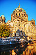 Berliner Dom Cathedral In Berlin, Germany At Sunrise