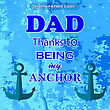 Best Dad Poster On Blue Grunge Background. Happy Fathers Day Design