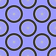 Bicycle Wheel Icon Seamless Pattern Isolated On Blue Background stock illustration